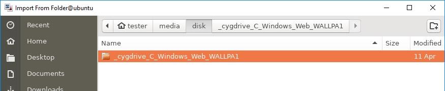 X2Go remote gebruik grafische Linux-toepassing Windows-pad padnaam lengte