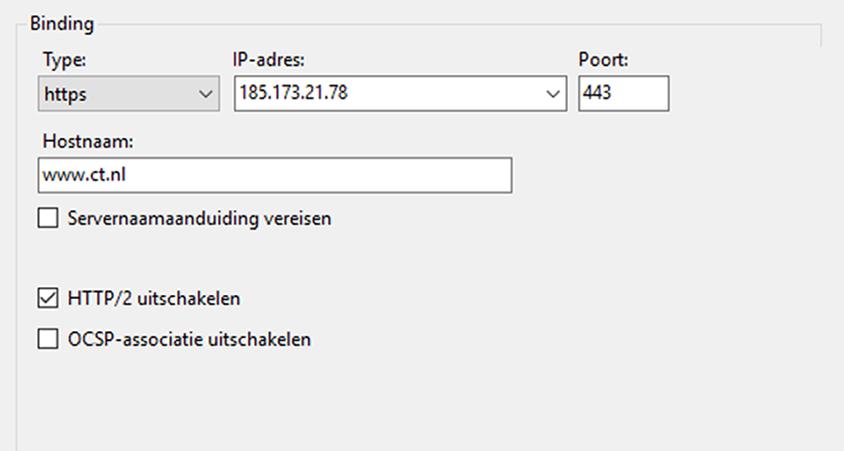 website versnellen HTTP/2 protocol server IIS webserver