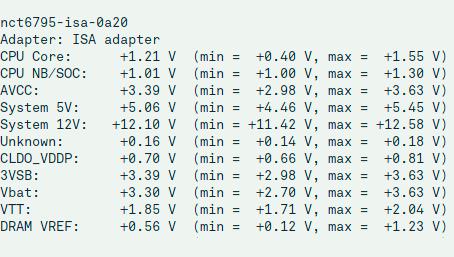 Linux sensor gegevens corrigeren correctie gecorrigeerd