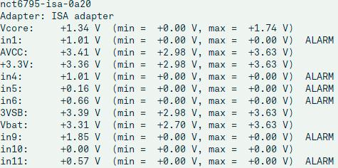 Linux sensor gegevens corrigeren lm_sensors configuratie