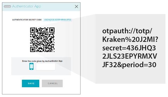 account beveiligen tweefactor authenticatie seed geheime code QR code