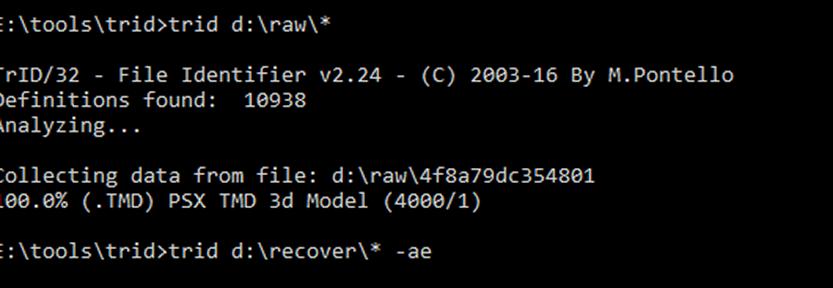 onbekend bestandstype bepalen herkennen TRID commandline Linux Windows