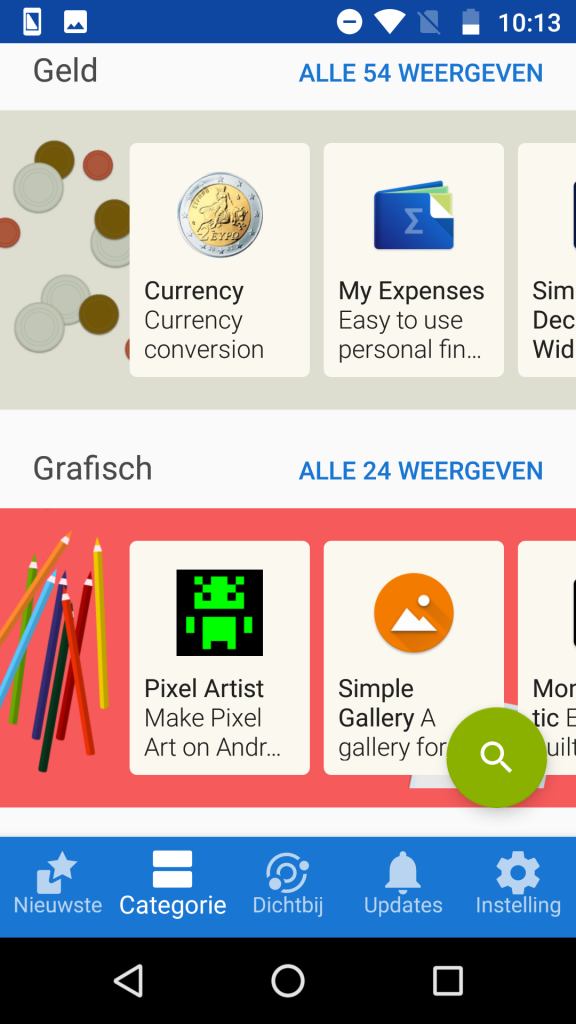 Android privacy apps zonder Google F-Droid client