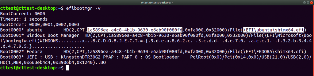 Linux op UEFI-pc installeren boot variabele ID ESP bootloader