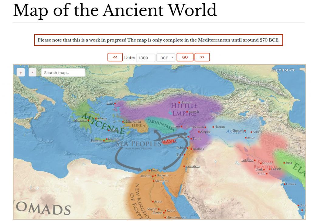 ancient history map