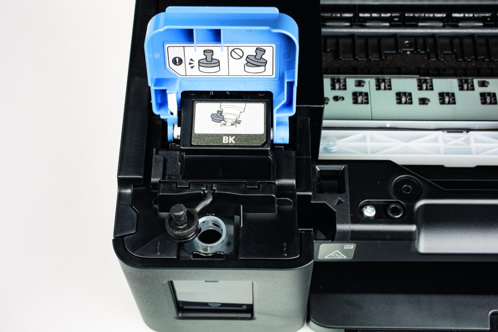 printkosten inkjet printer goedkoop vulling prijs per pagina Canon Pixma vullen tank dop luchtbel