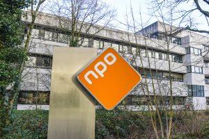 Gebouw en logo Nederlandse Publieke Omroep - NPO
