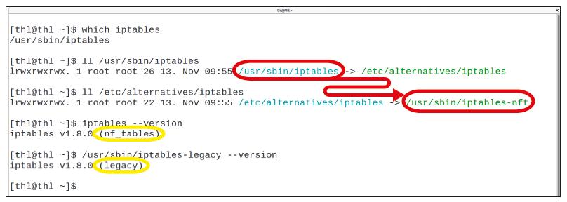 Linux firewall nftables iptables xtables distributie commando