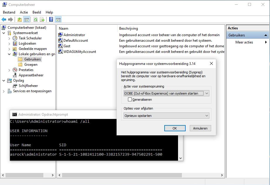 Windows installeren WSIM windowsPE OOBE installatie offline servicing audit