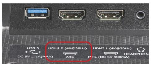 HDMI-poort met ARC-ondersteuning