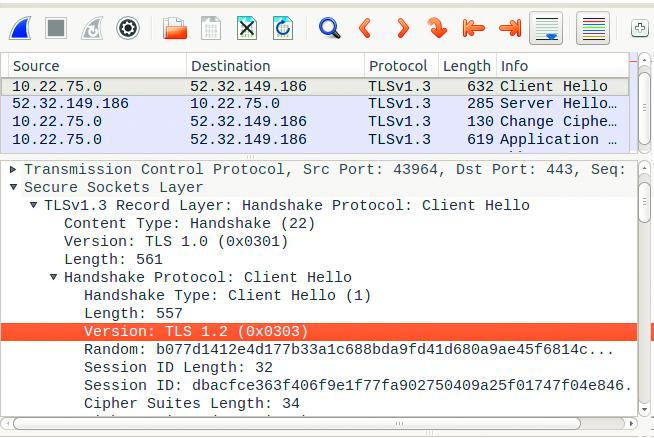 veiliger internet TLS 1.3 versie weergave TLS 1.2 handshake