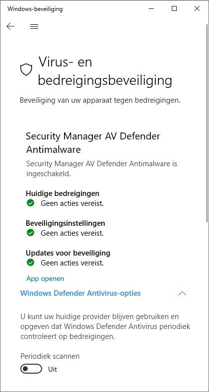 antivirus bescherming virus Windows dubbel gratis verwijderen ransomware Defender controle