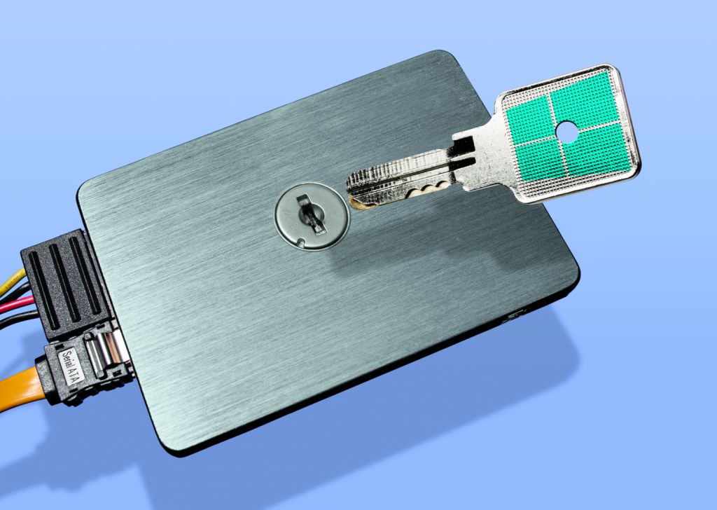Bitlocker eDrive ssd softwarematig hardwarematig encryptie
