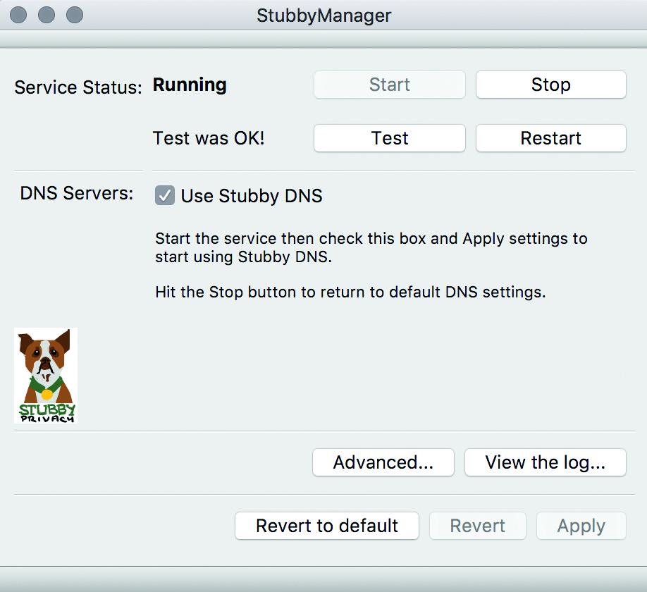anoniem surfen DNS server encryptie versleuteld Stubby macOS grafische interface GUI