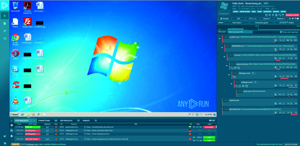 malware bekijken browser any.run veilig analyse