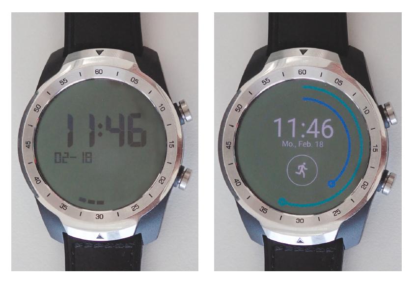 smartwatch Mobvoi TicWatch Pro display scherm dubbel lcd