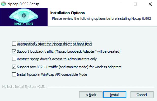 Wireshark netwerk analyse tool Npcap WinPCAP installatie Npcap