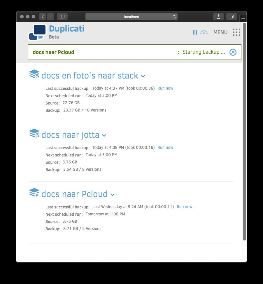 back-up met encryptie Duplicati 2 review