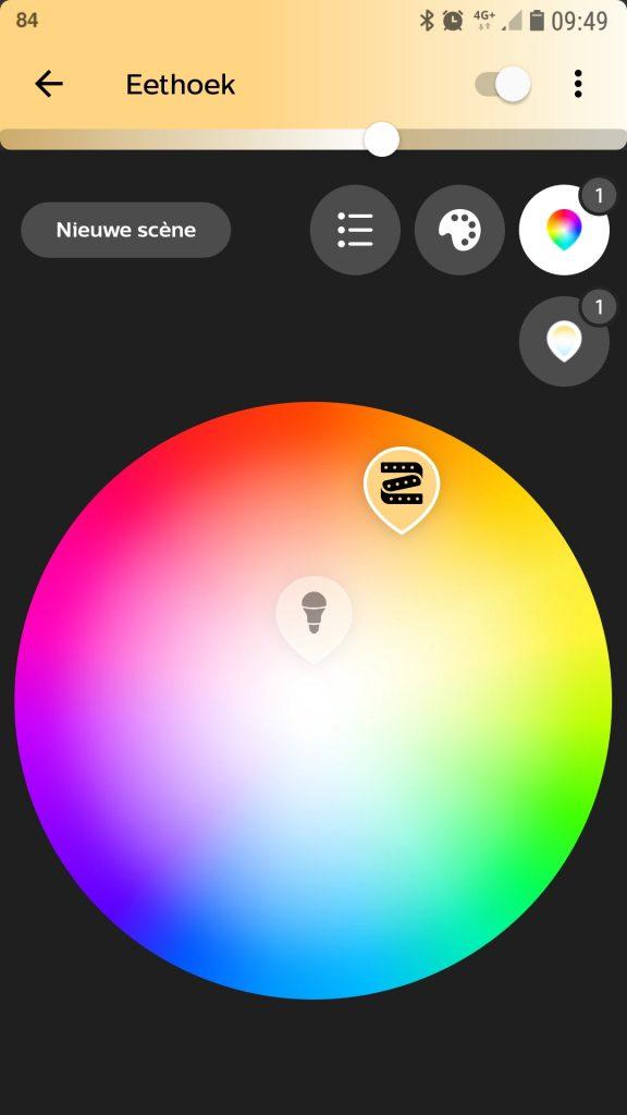 slimme verlichting getest Philips Hue app bediening