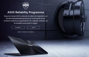 Asus reliability programma laptop garantie reparatie restitutie