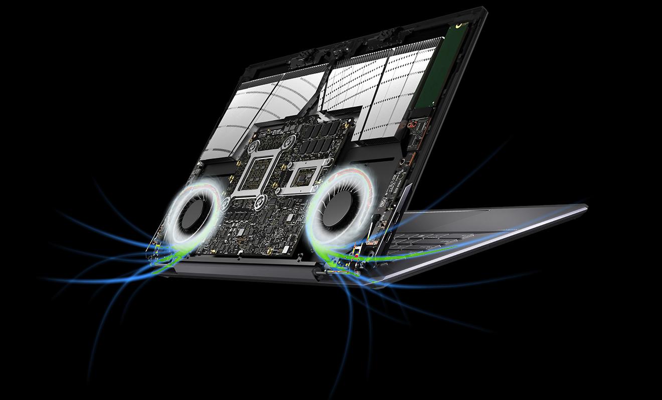 StudioBook One koeling scherm ventilatie
