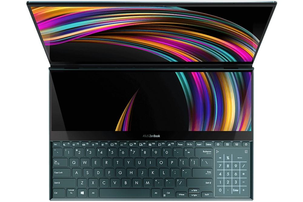 ZenBook Pro Duo ScreenPad Plus bovenaanzicht