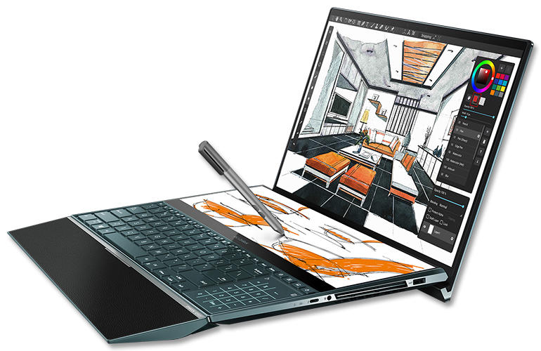 ZenBook Pro Duo palmsteun