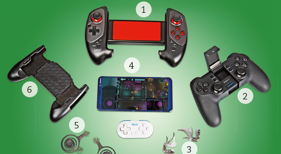 game smartphone test controller mobiele game gamepad