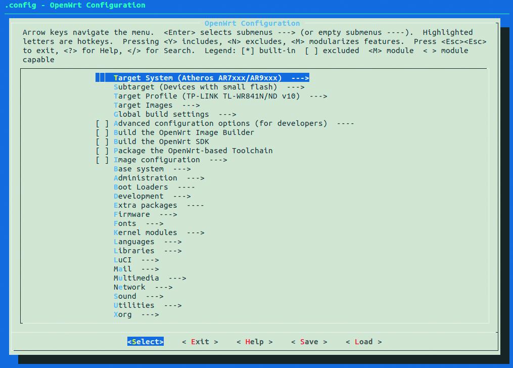 router OpenWrt firmware aanpassen samenstellen makefile interface
