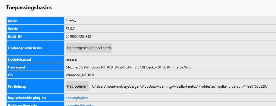 Firefox veilig maken profiel map locatie directory profielmap