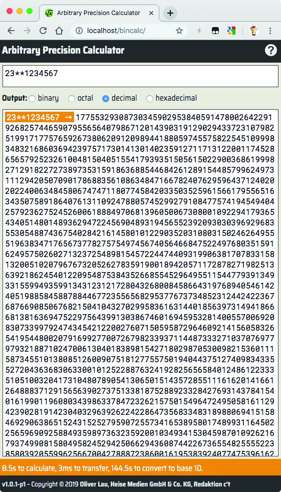 JavaScript rekenen BigInt grote getallen