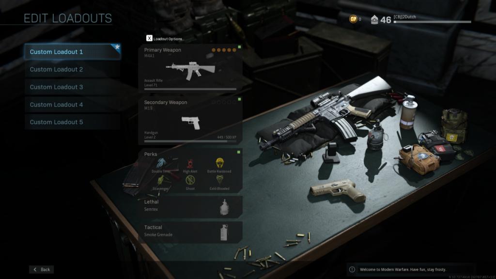 cod modern warfare - loadouts