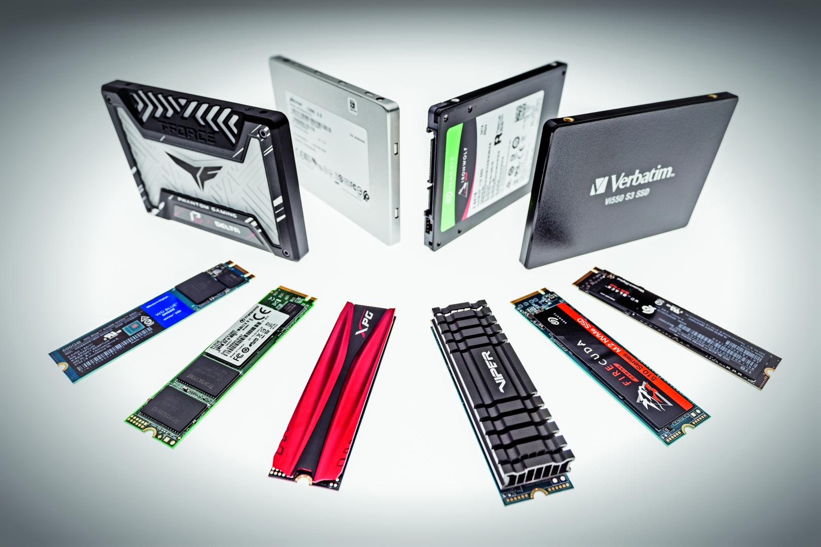 snelle ssd test SATA PCIe interface vergelijking energieverbruik
