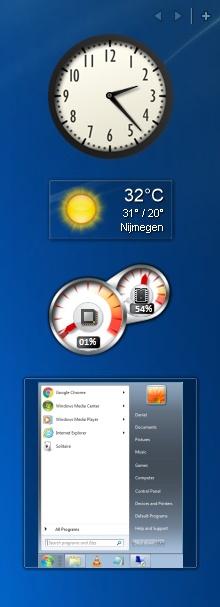 Windows 10 gadget sidebar