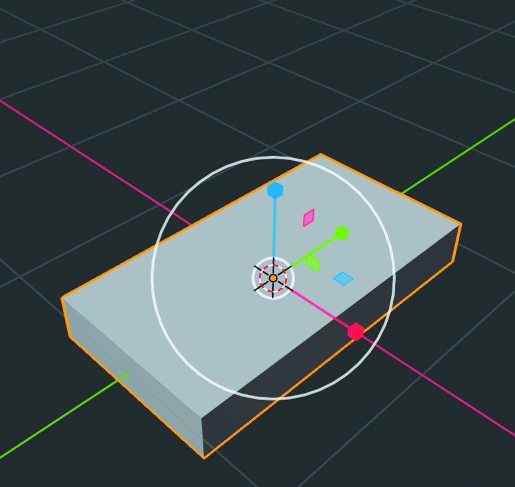 Blender workshop 3D ontwerpen bodemplaat Scale-tool