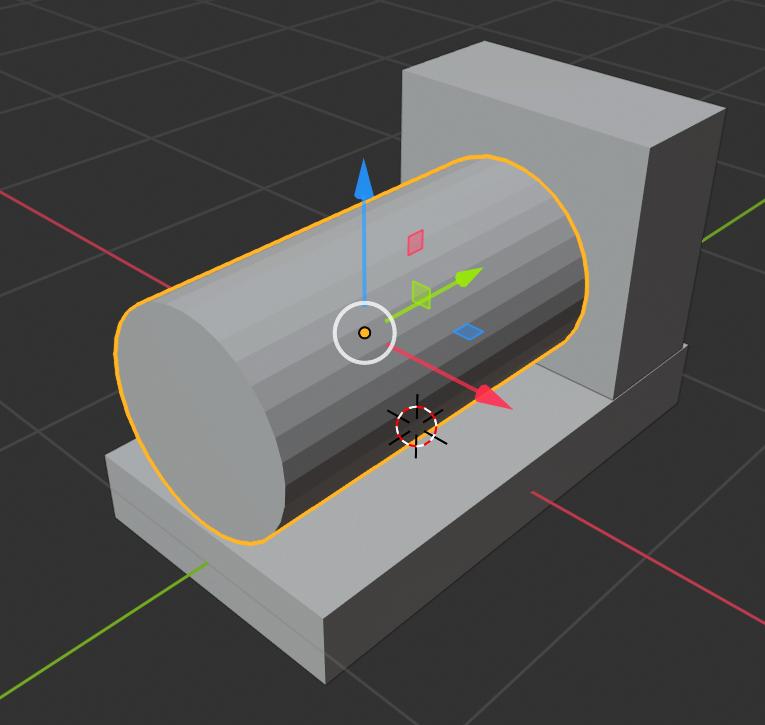 Blender workshop 3D ontwerpen cilinder Rotate Ctrl