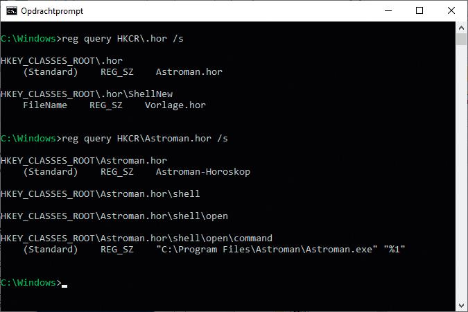 Nieuw-menu sneller maken bestandstype registreren registratie controleren opdracht