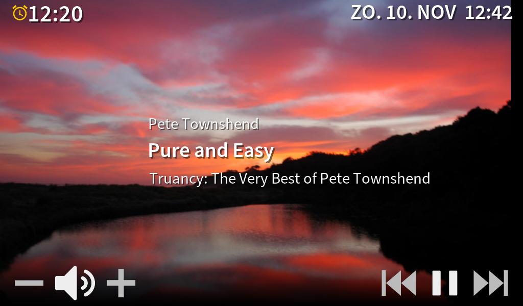 Raspberry Pi wekkerradio touch interface