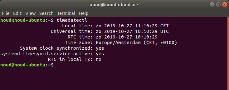 computer verkeerde tijd realtime klok controleren Linux timedatectl