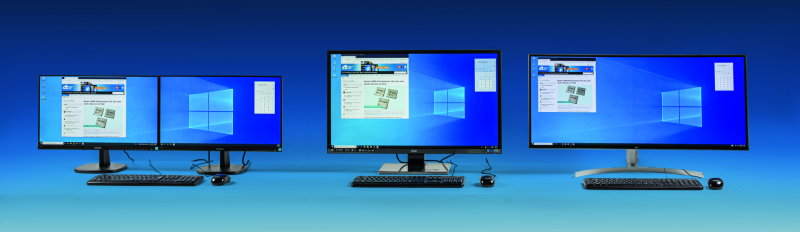 Windows 10 hoge resolutie monitor meerdere monitoren