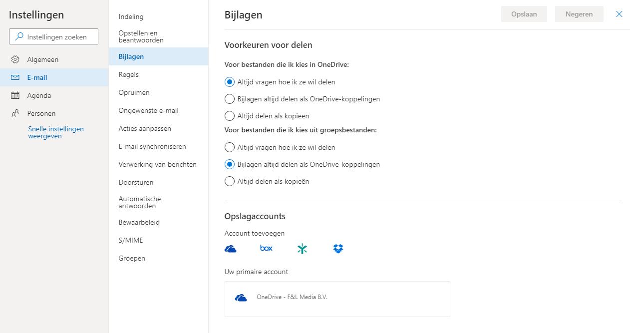 Outlook thuis gebruiken onderweg Outlook Web OWA bijlagen