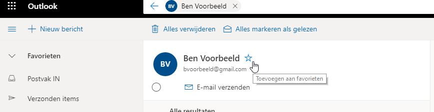 Outlook thuis gebruiken onderweg Outlook Web OWA contact toevoegen