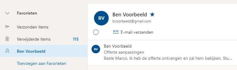 Outlook thuis gebruiken onderweg Outlook Web OWA contact