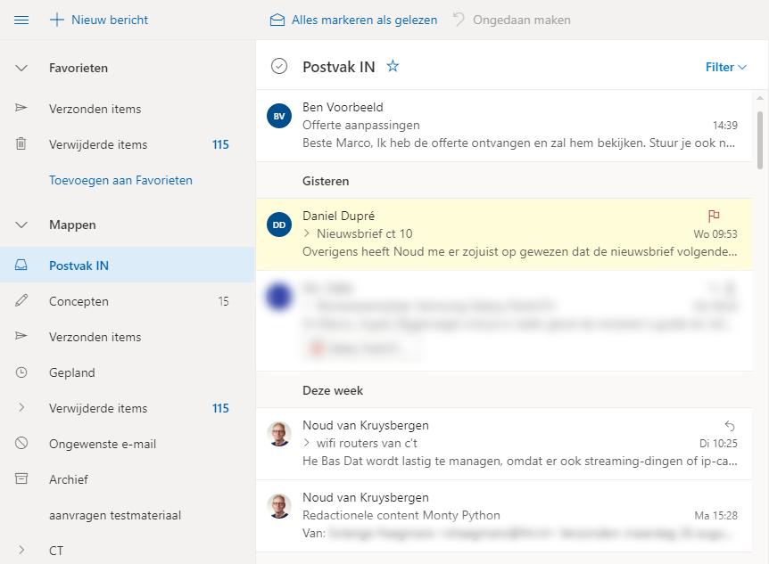 Outlook thuis gebruiken onderweg Outlook Web OWA e-mail