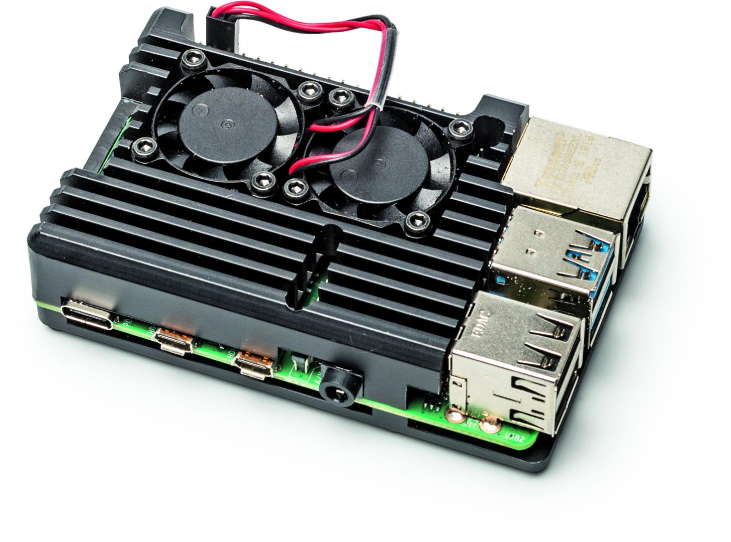 Pi 4 koeling koeler ventilatie fan test behuizing Armor Case