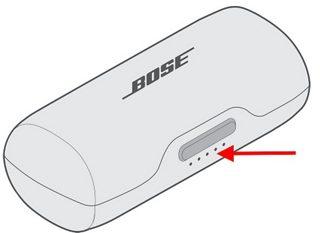 in-ears case status led accu batterij Bose