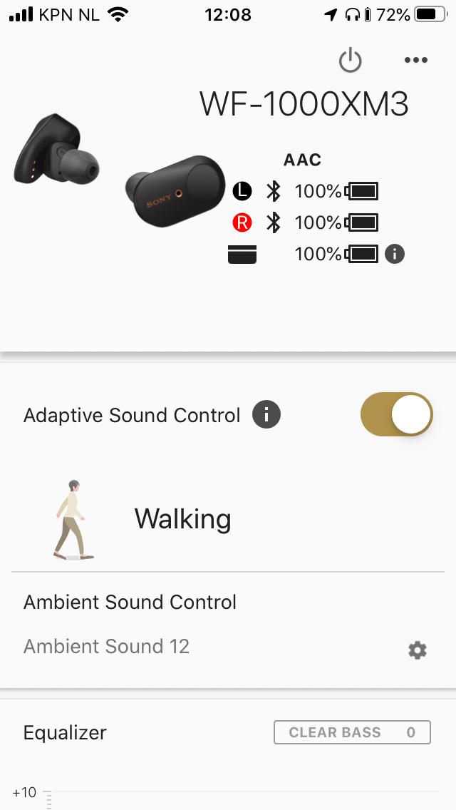 wireless in-ear headset test vergelijking draadloze oordopjes koptelefoon bluetooth app Sony
