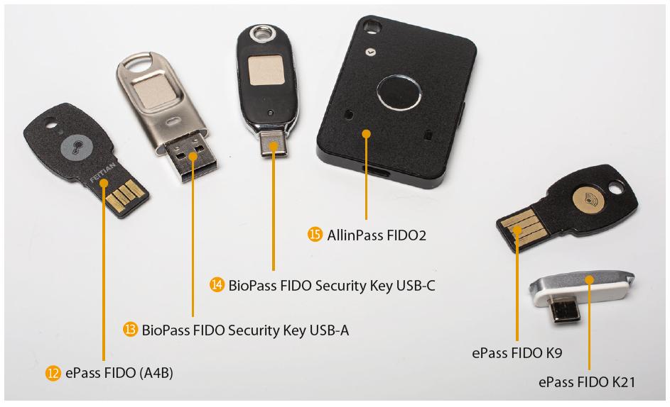 FIDO2 security key beveiligingssleutel Feitian BioPass ePass AllinPass test review