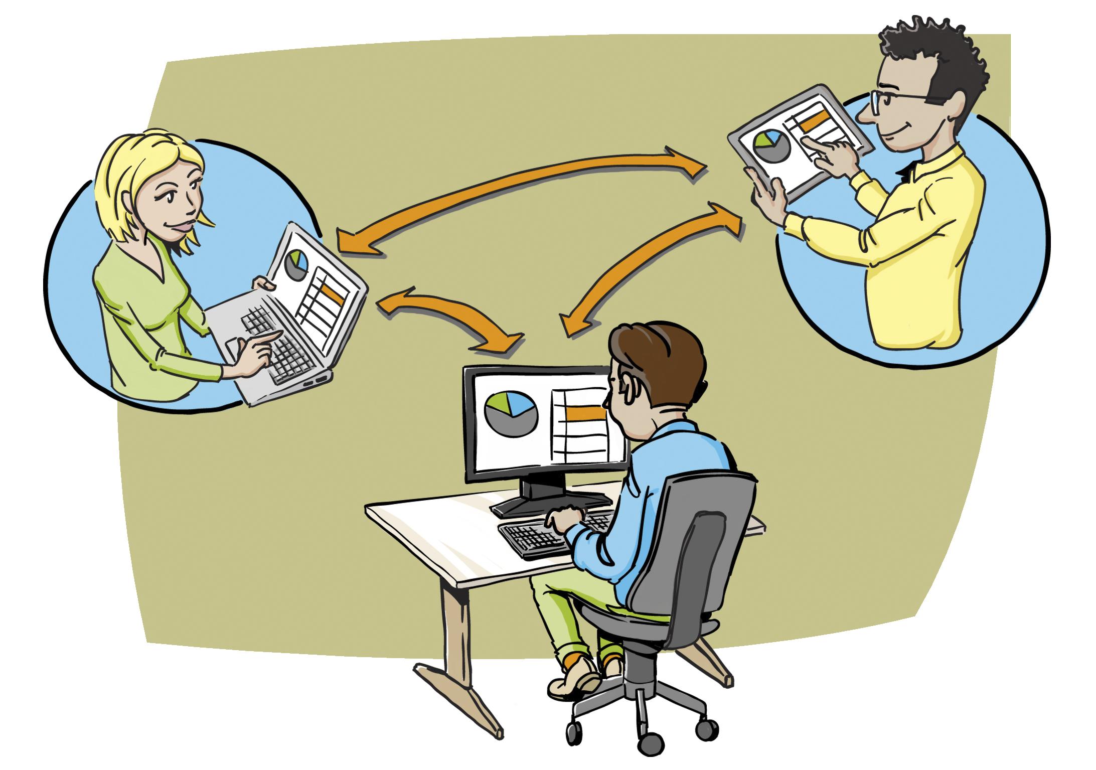 Microsoft Office online samenwerken remote bestand delen bewerken cloud