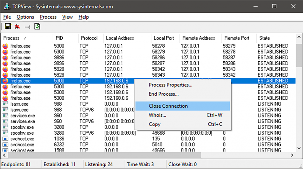 TCPview 3.05